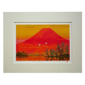 絵画 壁掛け 版画 リトグラフ 吉岡 浩太郎作 「吉兆」|touo