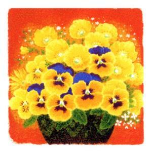 絵画 壁掛け 版画 リトグラフ 吉岡 浩太郎作 開運風水「金運向上・黄色い花」|touo