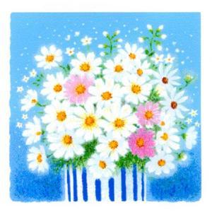 絵画 壁掛け 版画 リトグラフ 吉岡 浩太郎作 開運風水「人間関係向上・白い花」|touo