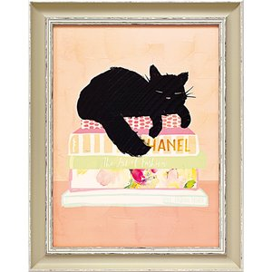 絵画 インテリア アートポスター 壁掛け (額縁 アートフレーム付き)付 ベラ ドス サントス「キャット ナップ」 touo