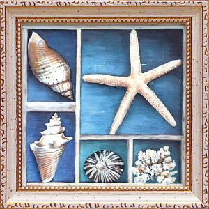 絵画 インテリア アートポスター 壁掛け (額縁 アートフレーム付き)付 テッド ブルーム「コレクション オブ メモリーズ2」|touo