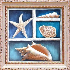 絵画 インテリア アートポスター 壁掛け (額縁 アートフレーム付き)付 テッド ブルーム「コレクション オブ メモリーズ4」|touo