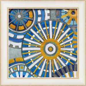 絵画 インテリア アートポスター 壁掛け (額縁 アートフレーム付き)付 デビー バンクス「サークル デライト1」 touo