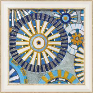 絵画 インテリア アートポスター 壁掛け (額縁 アートフレーム付き)付 デビー バンクス「サークル デライト2」 touo