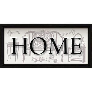絵画 インテリア アートポスター レターアート ミニフレーム 「ホーム(ブラックフレーム)」|touo