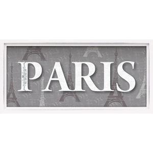 絵画 インテリア アートポスター レターアート ミニフレーム 「パリ(ホワイトフレーム)」|touo