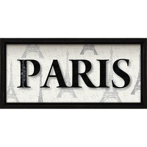 絵画 インテリア アートポスター レターアート ミニフレーム 「パリ(ブラックフレーム)」|touo