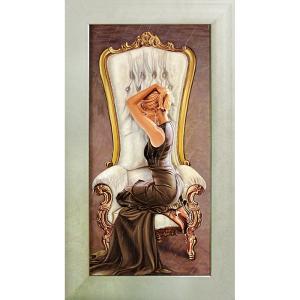絵画 インテリア アートポスター 壁掛け (額縁 アートフレーム付き)付 ピエール ベンソン「ビューティフル クイーン」|touo