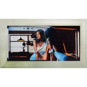絵画 インテリア アートポスター 壁掛け (額縁 アートフレーム付き)付 ピエール ベンソン「イン ザ ディム ライト」|touo