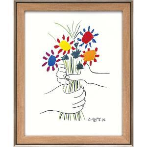 額縁付き絵画 パブロ ピカソ「花束を持つ手」 touo