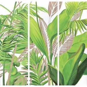 インテリア アート 壁掛け ウッド スカルプチャー アート「パーム ツリー(3枚セット)」|touo