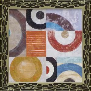 絵画 インテリア アートポスター 壁掛け (額縁 アートフレーム付き)付 サンドロ ナヴァ「ウェーブ2」 touo