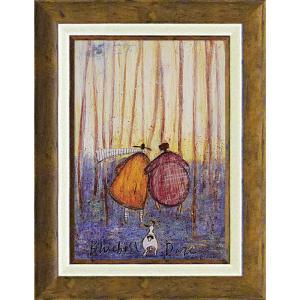 絵画 インテリア アートポスター 壁掛け (額縁 アートフレーム付き)付 サム トフト「ブルーベル デイズ」|touo