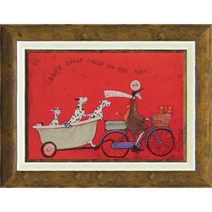 絵画 インテリア アートポスター 壁掛け (額縁 アートフレーム付き)付 サム トフト「ドンド ディリダリー」|touo