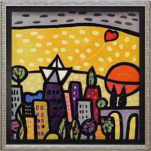 絵画 インテリア アートポスター 壁掛け (額縁 アートフレーム付き)付 ウォーラス「イル クオーレ(Mサイズ)」|touo