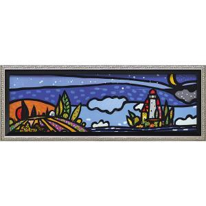 絵画 インテリア アートポスター 壁掛け (額縁 アートフレーム付き)付 ウォーラス「イゾラ エ ルーナ」|touo