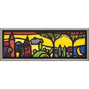 絵画 インテリア アートポスター 壁掛け (額縁 アートフレーム付き)付 ウォーラス「ピッコロ ボルゴ」|touo