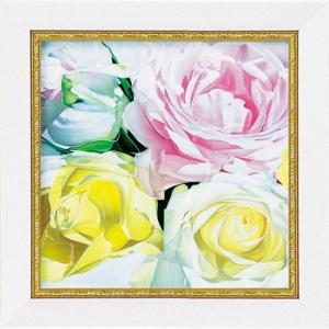 絵画 インテリア アートポスター 壁掛け (額縁 アートフレーム付き) ミニゲル アート アニー バードラット「ローズ」|touo