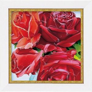 絵画 インテリア アートポスター 壁掛け (額縁 アートフレーム付き) ミニゲル アート アニー バードラット「レッドマスターピーシーズ」|touo