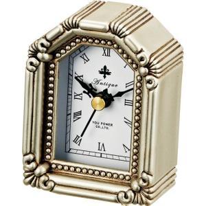 置時計 アンティーク スタイル「ハウス(シルバー)」|touo