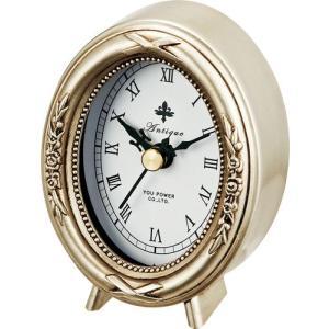置時計 アンティーク スタイル「オーバル(シルバー)」|touo
