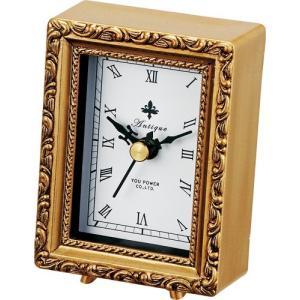 置時計 アンティーク スタイル「スクエア(ゴールド)」|touo