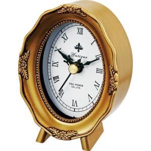 置時計 アンティーク スタイル「オーバル(ゴールド)」|touo