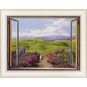 絵画 インテリア アートポスター アンドレア デル ミッシャー「パエザッジョ トスカーノ」|touo