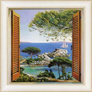 絵画 インテリア アートポスター アンドレア デル ミッシャー「フィネストラ スル メディテラネオ」|touo