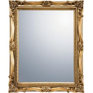 インテリア 鏡 壁掛け アンティーク スタイル ミラー「ゴールド」|touo