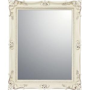 インテリア 鏡 壁掛け アンティーク スタイル ミラー「アンティーク バニラ」|touo