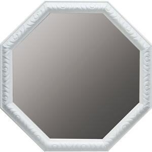 インテリア 開運鏡 壁掛け アンティーク 風水八角ミラー LLサイズ(ホワイト)|touo