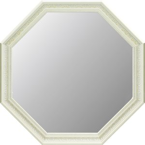 アンティーク 大型八角ミラー(ホワイト)|touo