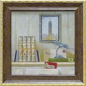 絵画 インテリア アートポスター 壁掛け (額縁 アートフレーム付き) ミニゲル アート アニー フィスク「ニューヨーク トラベラー」|touo