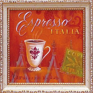 絵画 インテリア アートポスター 壁掛け (額縁 アートフレーム付き) アンジェラ スターリング「エスプレッソ・イタリア」|touo