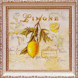 絵画 インテリア アートポスター 壁掛け (額縁 アートフレーム付き) アンジェラ スターリング「トスカーナのレモン」|touo