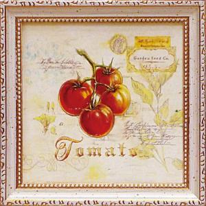 絵画 インテリア アートポスター 壁掛け (額縁 アートフレーム付き) アンジェラ スターリング「トスカーナのトマト」|touo