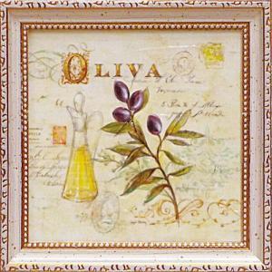 絵画 インテリア アートポスター 壁掛け (額縁 アートフレーム付き) アンジェラ スターリング「トスカーナのオリーブ油」|touo