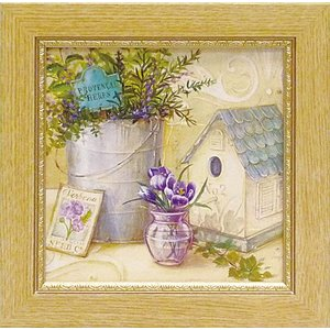 絵画 インテリア アートポスター 壁掛け (額縁 アートフレーム付き) アンジェラ スターリング「シェフズ ガーデン」|touo