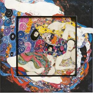 絵画 インテリア アートポスター 壁掛け (額縁 アートフレーム付き) ビッグアート クリムト「ザ・バージン」|touo