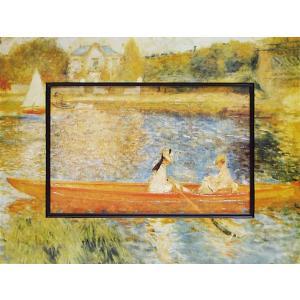 絵画 インテリア アートポスター 壁掛け (額縁 アートフレーム付き) ビッグアート ルノワール「アニエールのセーヌ川」|touo