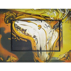 絵画 インテリア アートポスター 壁掛け (額縁 アートフレーム付き) ビッグアート ダリ「柔らかい時計」 touo