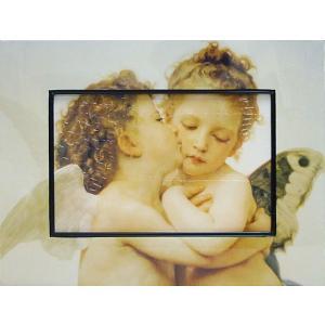 絵画 インテリア アートポスター 壁掛け (額縁 アートフレーム付き) ビッグアート ブーグレー「ファースト キス」|touo