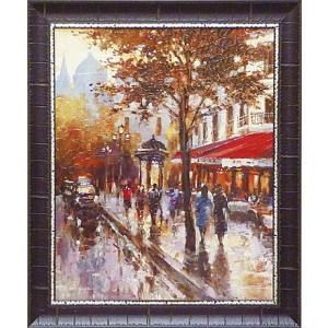 絵画 インテリア アートポスター 壁掛け (額縁 アートフレーム付き) ブレント ヘイトン作 「シャンゼリゼ通り1」|touo