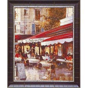 絵画 インテリア アートポスター 壁掛け (額縁 アートフレーム付き) ブレント ヘイトン作 「シャンゼリゼ通り2」|touo