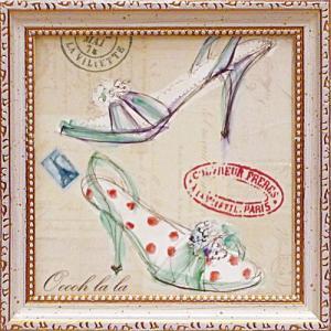 絵画 インテリア アートポスター 壁掛け (額縁 アートフレーム付き) ミニゲル アート バーバラ リンドナー「オー ララ シュー」|touo