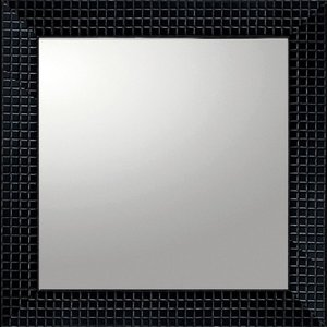 デコラティブ 大型ミラー タイル「正方形(ブラック)」|touo