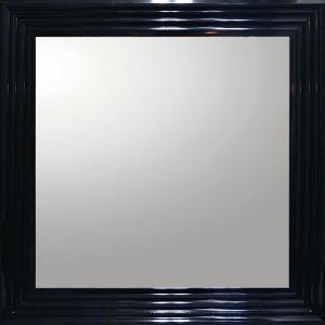 デコラティブ 大型ミラー シャープ「正方形(ブラック)」|touo