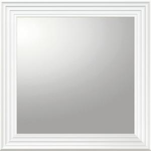 デコラティブ 大型ミラー シャープ「正方形(ホワイト)」|touo