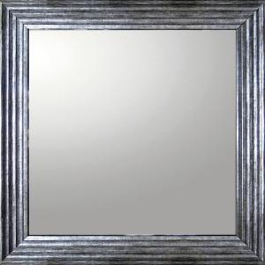 デコラティブ 大型ミラー シャープ「正方形(アンティーク シルバー)」|touo